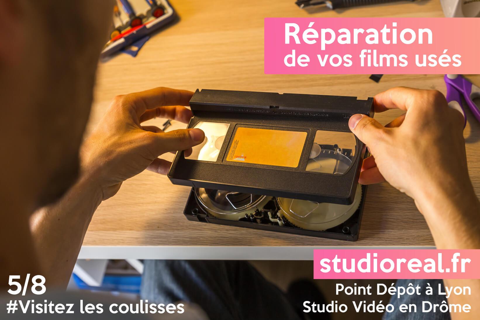 réparation de vos films usés