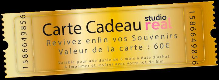Carte Cadeau Studio Real